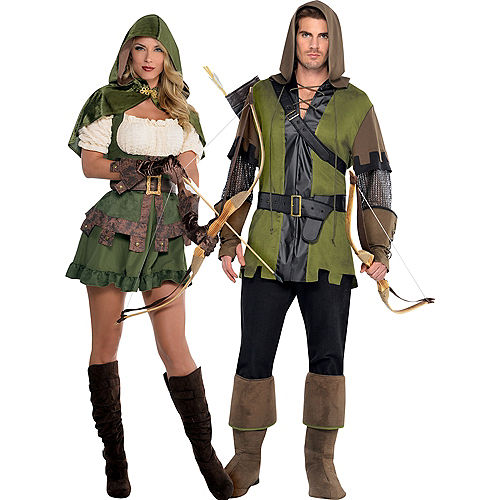 Adult Lady Robin Hood & Prince of Thieves Robin Hood Couples Costumes Image #1