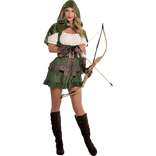 Adult Lady Robin Hood & Prince of Thieves Robin Hood Couples Costumes Image #2