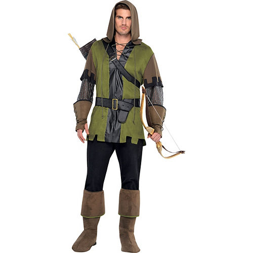 Adult Lady Robin Hood & Prince of Thieves Robin Hood Couples Costumes Image #3