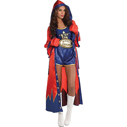 Adult Knockout Sexy Boxer & Boxer Robe Couples Costumes Image #2