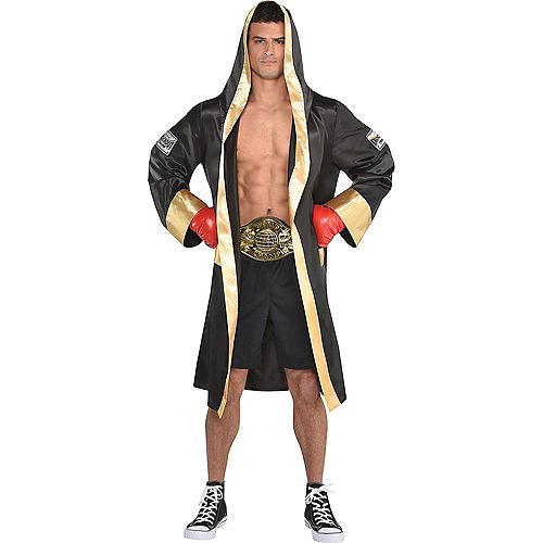 Adult Knockout Sexy Boxer & Boxer Robe Couples Costumes Image #3