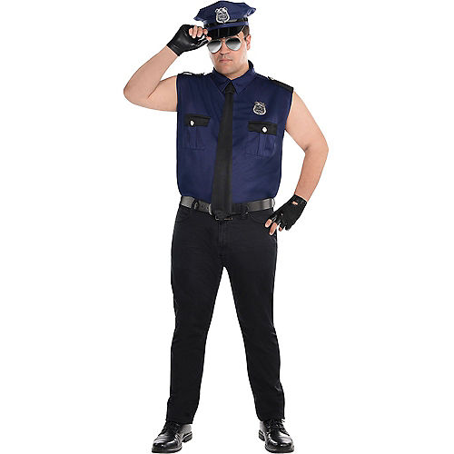 Adult Sexy Cop Couples Costumes Plus Size Image #3