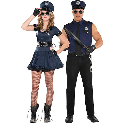 Adult Locked N Loaded Cop & Under Arrest Cop Couples Costumes Image #1