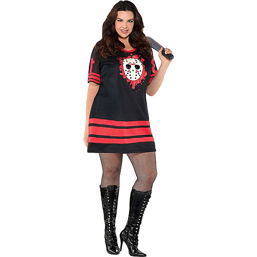 Adult Friday the 13th Couples Costumes Plus Size Image #2