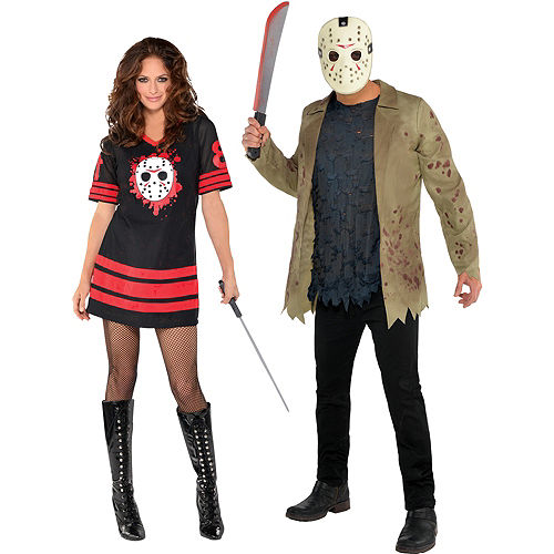 Adult Friday the 13th Couples Costumes Image #1