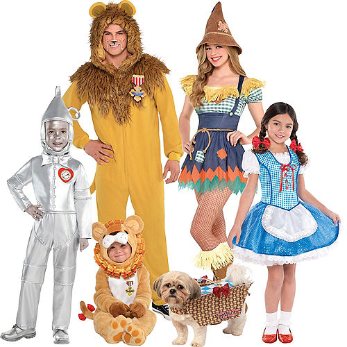 Adult Dorothy & Cowardly Lion One Piece Couples Costumes - The Wizard of Oz Image #1