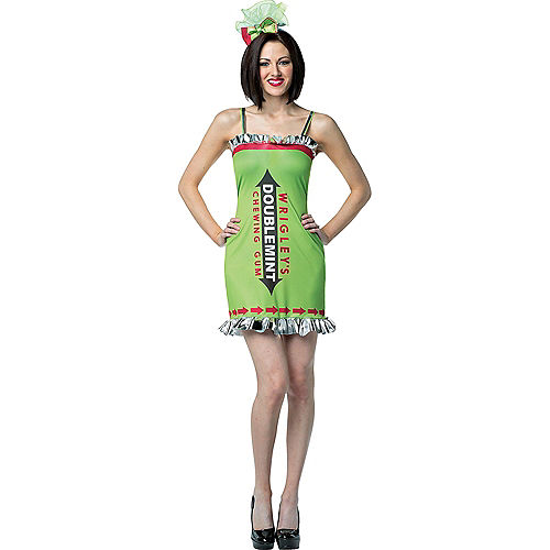 Adult Big Red & Doublemint Gum Couples Costumes Image #2