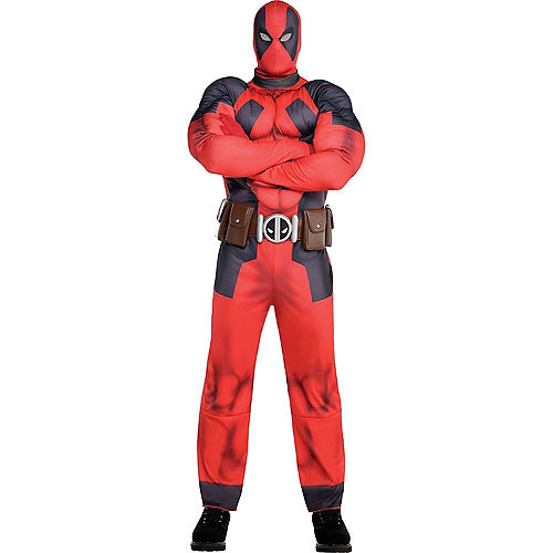 Adult Lady Deadpool & Deadpool Muscle Couples Costumes Image #3