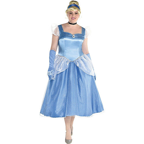 Adult Cinderella & Prince Charming Couples Costumes Plus Size - Cinderella Image #2