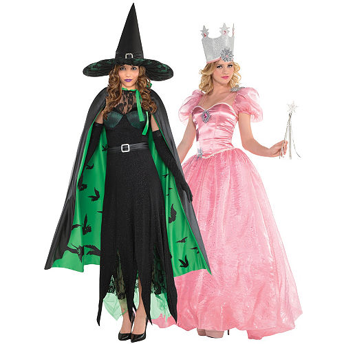 Women's Glinda & The Wicked Witch Couples Costumes - Wizard of Oz Image #1