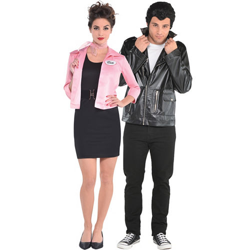 Adult Pink Lady & T-Bird Couples Costumes - Grease Image #1