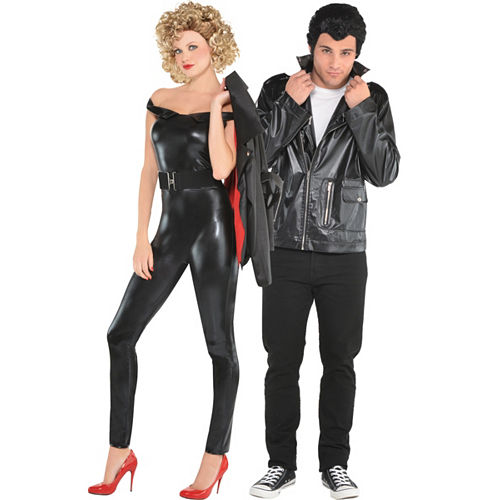 Adult Sandy Greaser & T-Bird Couples Costumes - Grease Image #1
