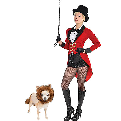 Adult Circus Ringmaster & Lion Doggy & Me Costumes Image #1