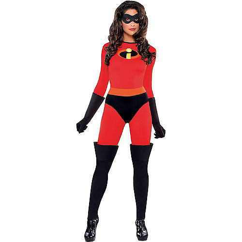 Adult Mrs. Incredible & Incredibles Doggy & Me Costumes - The Incredibles Image #3