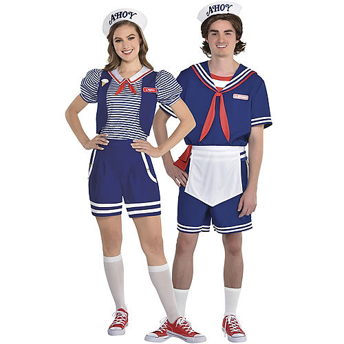 Adult Robin Scoops Ahoy & Steve Scoops Ahoy Couples Costumes Image #1