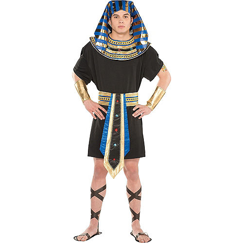 Adult Egyptian Bastet Goddess & Egyptian Pharaoh Couples Costumes Image #3