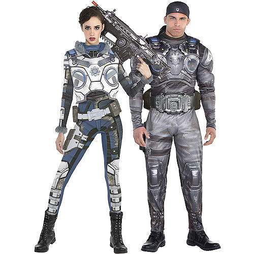 Adult Kait Diaz & Marcus Fenix Muscle Couples Costumes - Gears of War Image #1