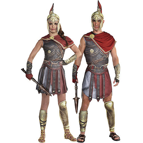Adult Kassandra & Alexio Couples Costumes - Assassin's Creed Image #1
