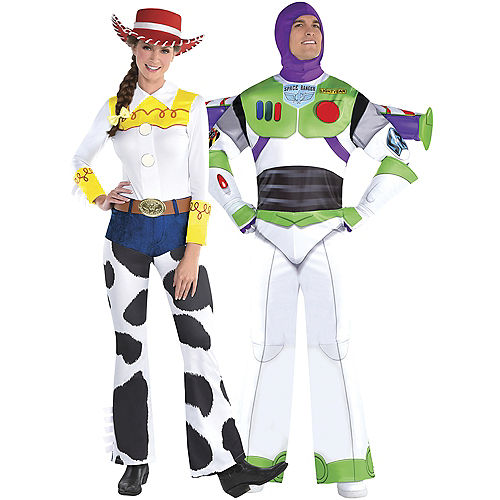 Adult Jesse & Buzz Lightyear Couples Costumes - Toy Story Image #1