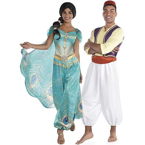 Adult Jasmine Whole New World & Aladdin Couples Costumes Image #1