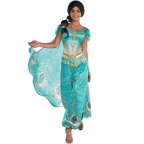 Adult Jasmine Whole New World & Aladdin Couples Costumes Image #2