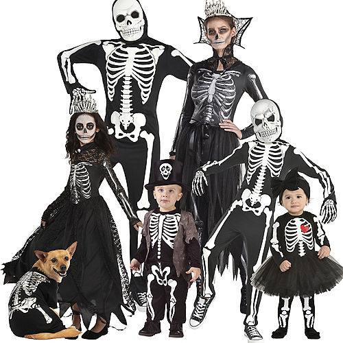 Skeleton Family Costumes Image #1