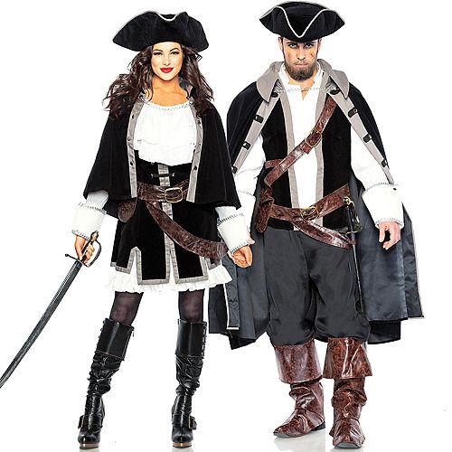 Adult Sailor Captain & Pirate Captain Couples Costumes Image #1