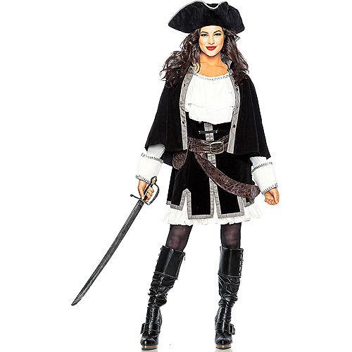 Adult Sailor Captain & Pirate Captain Couples Costumes Image #2