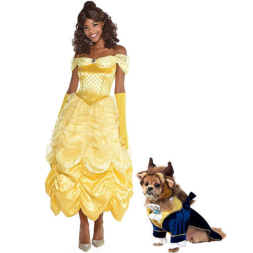 Adult Belle & Beast Doggy & Me Costumes - Beauty and the Beast Image #1