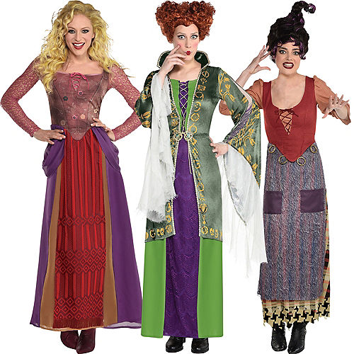 Sanderson Sisters Group Costumes for Adults - Disney Hocus Pocus Image #1