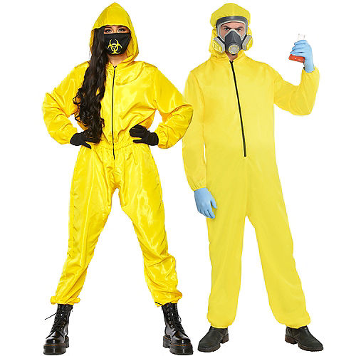 Adult Radioactive Hazmat Couples Costumes Image #1