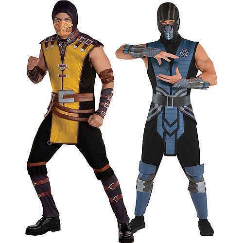 Adult Scorpion & Sub-Zero Couples Costumes - Mortal Kombat Image #1