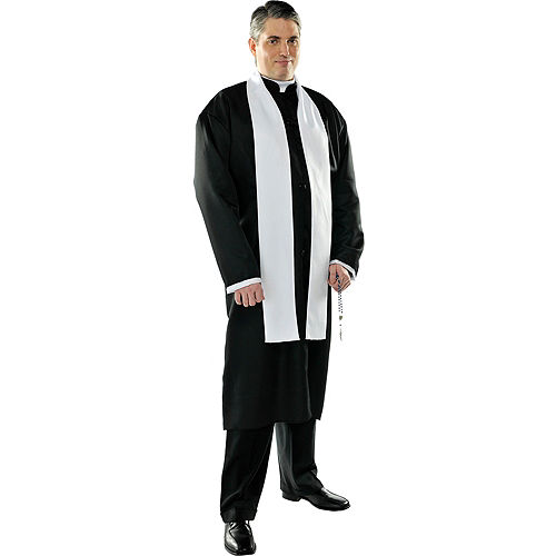Adult Father Priest Costume Plus Size Image #1