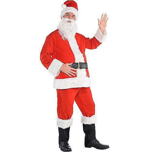 Adult Flannel Santa Suit Image #1