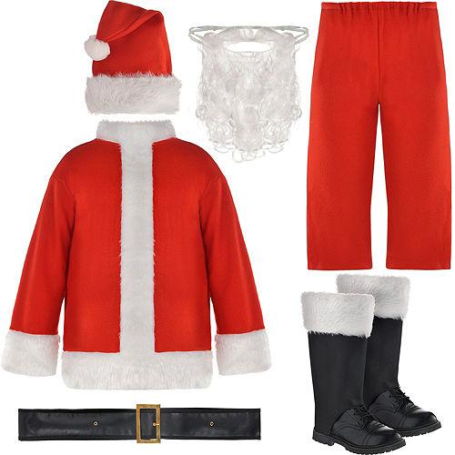 Adult Flannel Santa Suit Image #2