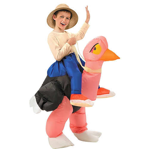 Child Inflatable Illusion Ostrich Ride On Costume Image #1