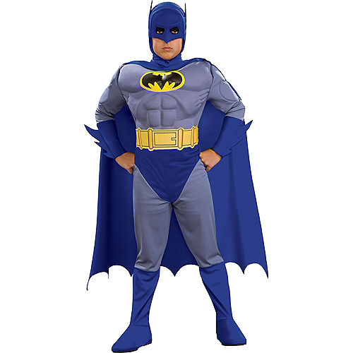 Boys Batman Muscle Costume - The Brave & the Bold Image #1