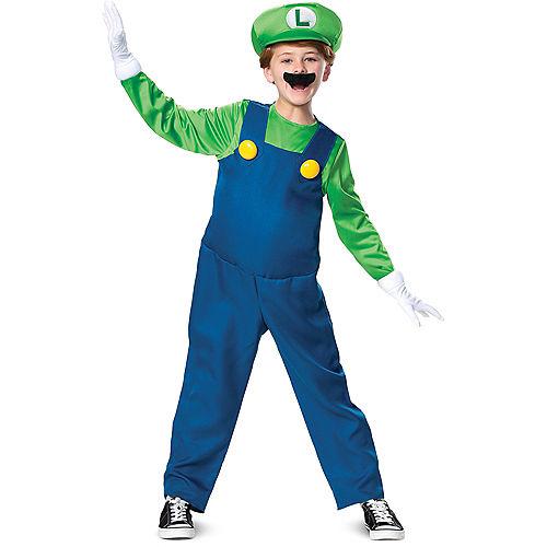 Boys Luigi Costume Deluxe - Super Mario Brothers Image #1