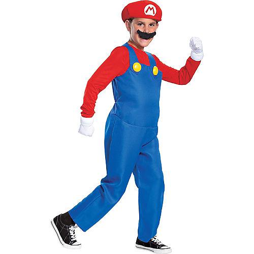 Boys Mario Costume Deluxe - Super Mario Brothers Image #1