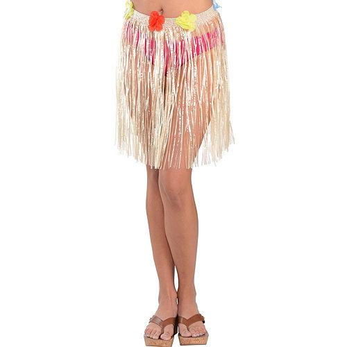 Adult Plastic Mini Hula Skirt Image #1