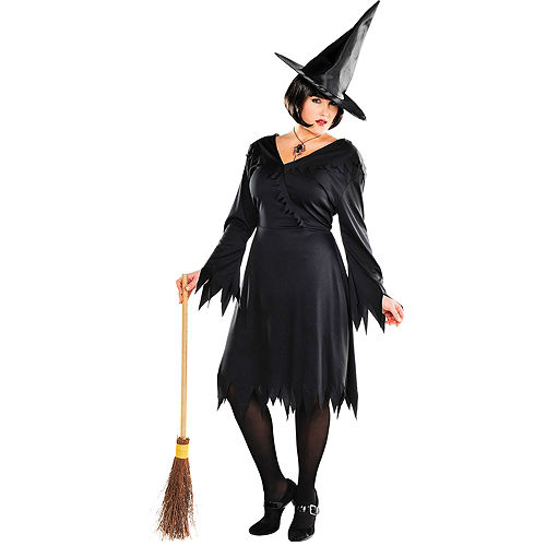 Adult Classic Witch Costume Plus Size Image #1