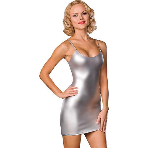 Silver Foil Dress Image #1