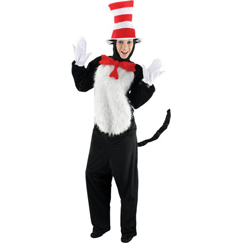 Adult Cat in the Hat Costume Deluxe - Dr. Seuss Image #1