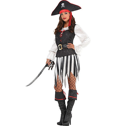 Adult High Sea Sweetie Pirate Costume Image #1