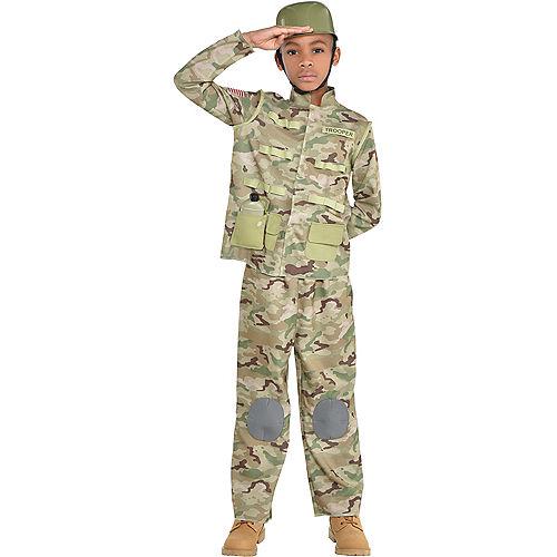Boys Combat Soldier Costume Image #1