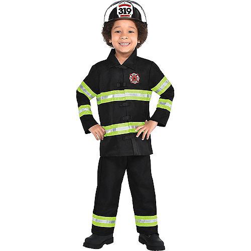 Boys Reflective Firefighter Costume Image #1