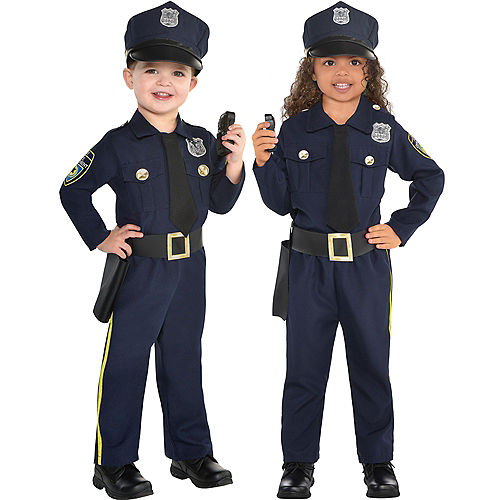 Kids' Classic Police Officer Deluxe Costume Image #1