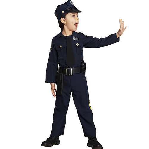 Kids' Classic Police Officer Deluxe Costume Image #3