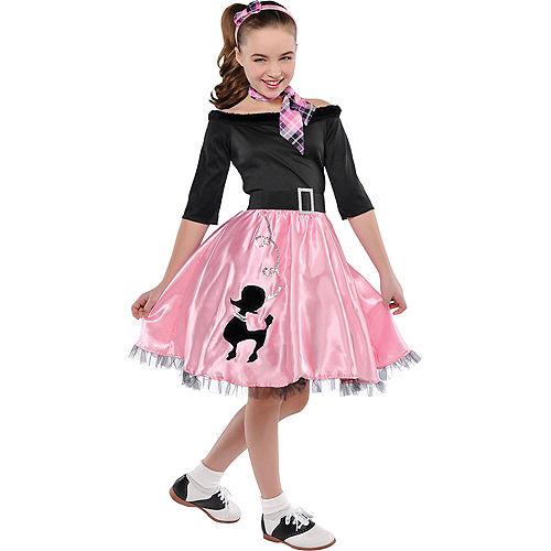Girls Miss Sock Hop Costume Image #1