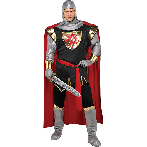 Adult Brave Crusader Knight Costume Plus Size Image #1
